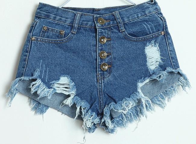 Women's Ripped Denim Shorts Size:8,10 | eBay